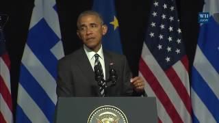 Download President Barack Obama Athens, Greece speech November 16, 2016 Video