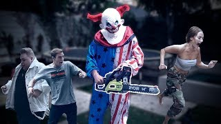 Download KILLER CLOWN CHAINSAW PRANK ON TEAM 10 Video