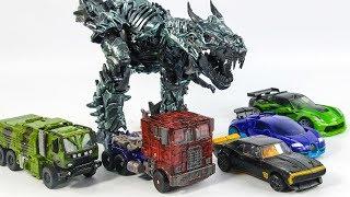 Download Transformers 4 AOE Autobots Optimus Prime Bumblebee Crosshair Drift Hound Grimlock Vehicle Robot Toy Video
