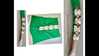 Download Beautiful Bow Straps Sleeves ( Baju ) Making for Churidars ,Kurtis, Saree Blouses, Dresses Video