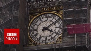 Download Big Ben scaffolding takes tourists by surprise - BBC News Video