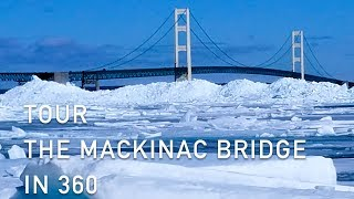 Download Tour the Mackinac Bridge in 360° Degree Video During the Winter Season Video