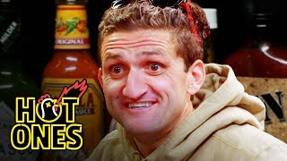 Download Casey Neistat Melts His Face Off While Eating Spicy Wings | Hot Ones Video