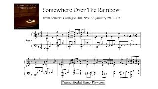 Download Keith Jarrett - Somewhere Over The Rainbow, from: Carnegie Hall, 2009 (transcription) Video