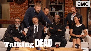 Download 'Morgan As A Crossover Character & Andrew Lincoln Does Disco Bat' Highlights Ep. 816   Talking Dead Video