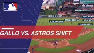 Download Astros employ a dramatic shift on Joey Gallo Video