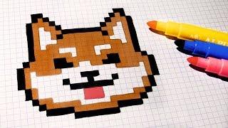 Download Handmade Pixel Art - How To Draw Kawaii Dog #pixelart Video