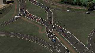 Download Diverging diamond interchange concept Video