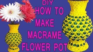 Download HOW TO MAKE Simple Macrame Handmade Flower Pot Design #2 | FULL STEP BY STEP VIDEO TUTORIAL Video