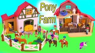 Download Pony Farm ! Playmobil Horse Barn Toy Video - Honey Hearts C Video