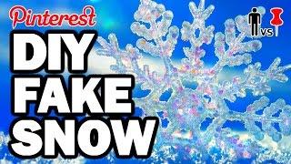 Download DIY FAKE SNOW - Pinterest Test #77 - Man Vs Pin Video