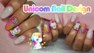 Download Acrylic Nails | Unicorn nail Design | Rainbow Nails Video