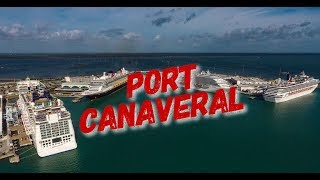 Download Port Canaveral Florida by Drone in 4K Video
