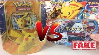 Download Pokemon Cards - REAL Pokemon Tin VS FAKE Pokemon TIn!! Video