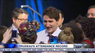 Download Video: Trudeau under fire over question period attendance record Video