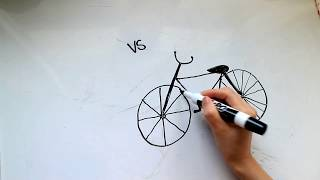 Download 4: Kids' Tutorial - How to Draw a Bicycle or Bike in 3 Minutes - Simple, Easy & Fun | Vivi Santoso Video