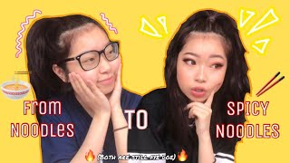 Download just noodles, to SPICY noodles makeup | Fruitypoppin Video