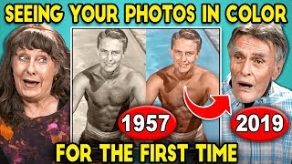 Download Elders React To Seeing Their Black And White Photos In Color For The First Time Video