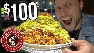 Download $100 Chipotle Burrito Bowl CHALLENGE! Video