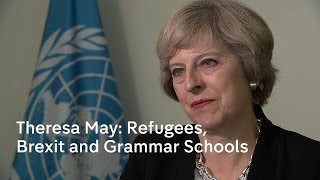 Download Theresa May's UN message on refugees Video