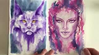 Download Flip through Jane Davenport watercolor challenge 2018 Video