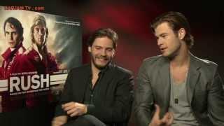 Download Chris Hemsworth Sexy Funny Interview Daniel Bruhl RUSH Movie 2013 Niki Lauda Carjam TV HD Video