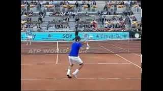 Download El gran maestro Roger Federer en cámara lenta. Saque, derecha, revés Video