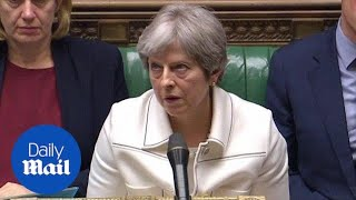 Download Moment Theresa May appears to roll her eyes at Jeremy Corbyn - Daily Mail Video