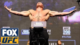 Download Brock Lesnar vs. Mark Hunt | Weigh-In | UFC 200 Video