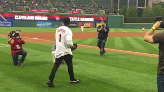 Download Myles Garrett, Jabrill Peppers and David Njoku throw out Cleveland Indians first pitch Video