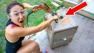 Download DRILLING HOLE INTO ABANDONED SAFE!! (WHAT'S INSIDE?!) Video