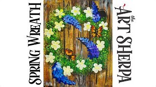 Download How to paint a Wreath with Flowers, wood and butterflies EASY PEASY Video