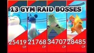 Download Pokémon GO 13 RAID BOSSES! Level 4 - 1 Tyranitar Lapras Snorlax Charizard Exeggutor & MORE! Video