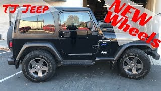 Download New Wheels On The Jeep Wrangler!!! WOW What A Difference! Video