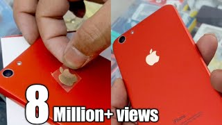 Download Convert oppo mi any mobile in iphone with lamination Decorate wrap trick Video