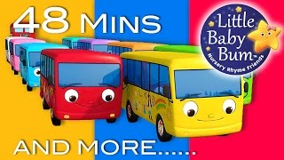 Download Ten Little Buses   Part 2   Plus Lots More Nursery Rhymes   48 Mins Compilation from LittleBabyBum! Video