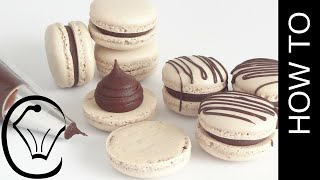 Download Foolproof Easy Mocha French Macarons With Chocolate Ganache by Cupcake Savvy's Kitchen Video