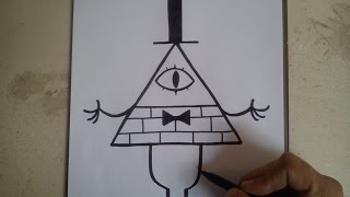 Download COMO DIBUJAR A BILL CIPHER - GRAVITY FALLS / how to draw bill cipher / gravity falls Video