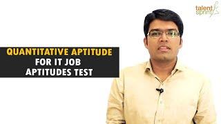 Download Quantitative Aptitude tricks and sample questions for IT Job Aptitude Test   TalentSprint Video