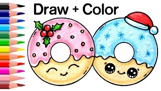Download How to Draw Christmas Donuts Easy and Cute Video