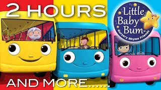 Download Wheels On The Bus | Part 2 Compilation! | 2+ Hours of Nursery Rhymes by LittleBabyBum! Video