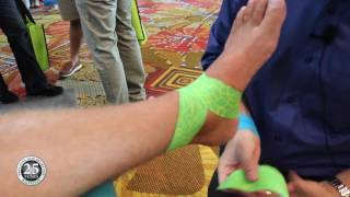 Download How to Apply Kinesiology Tape to a Sprained Ankle Video