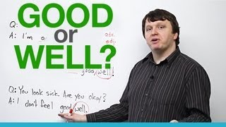 Download When to use 'good' and 'well' - English Vocabulary Video