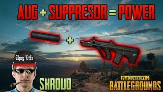Download AUG + SUPPRESSOR - Shroud win solo FPP game - PUBG HIGHLIGHTS TOP 1 #38 Video