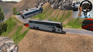 Heavy load Lorry Driver Fight With Volvo Bus | Euro Truck