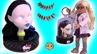 Download Makeup / Face Makeover On Monster High Style Head ! Toy Video Video