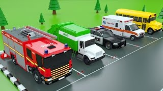 Download Learn Colors with Car Parking Street Vehicles Toys - Colors Videos for Children Video
