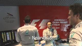 Download [HD] Nico Rosberg FULL funny scene [Monza 2014] Video