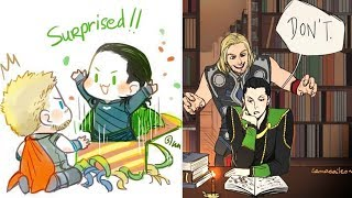 Download 30+ Funny Thor & Loki Comics To Make You Laugh   Thor And Loki Special   Marvel Video