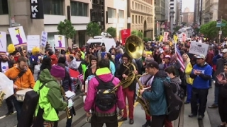 Download Tens of Thousands March in San Francisco Video